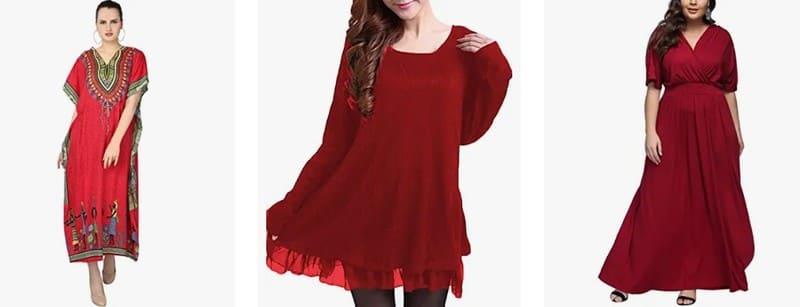 vestidos rojos tallas grandes